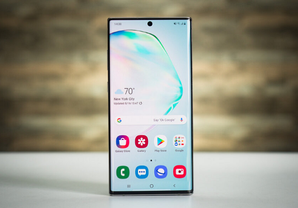 samsung note 10 plus bi nong may