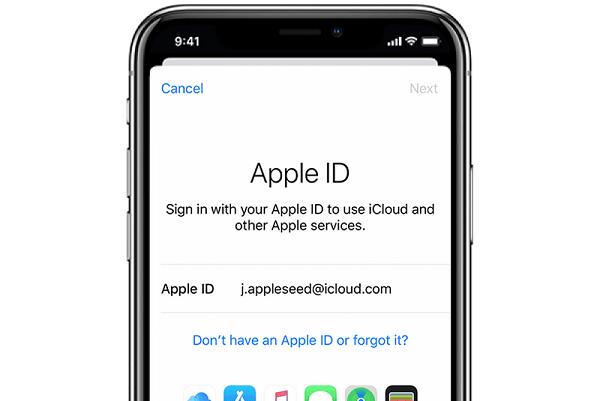 dang nhap id apple