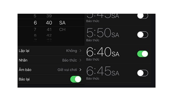 Chế độ báo lại cho báo thức iPhone
