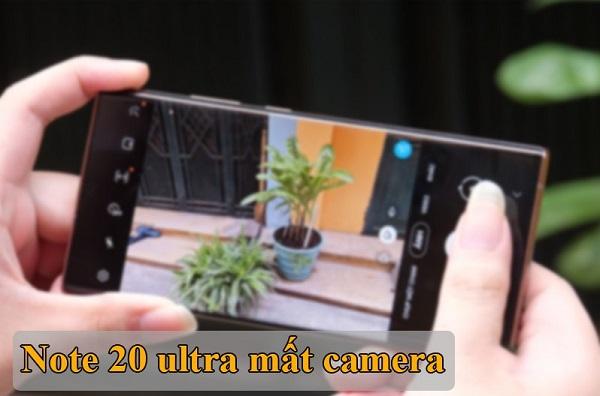 Điện thoại Samsung Note 20 Ultra bị mất camera