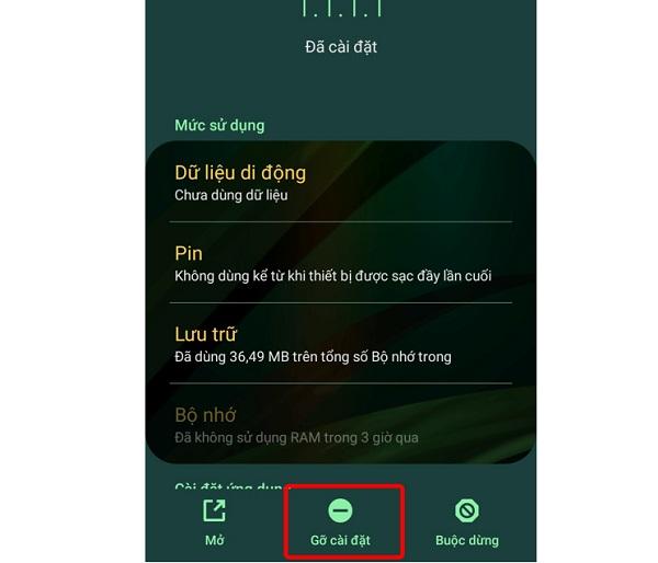 Gỡ cài đặt ứng dụng lạ trên Samsung Note 20 Ultra
